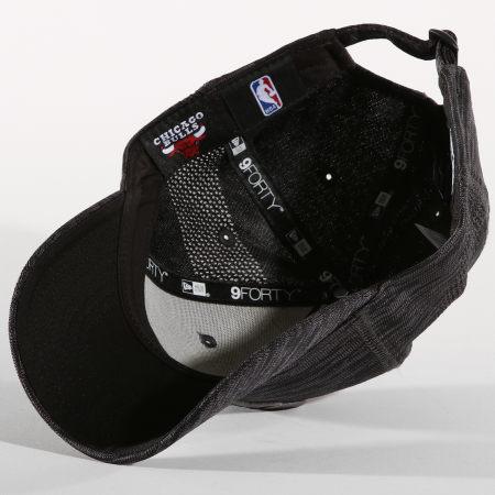 New Era - Casquette Engineered Chicago Bulls 11794808 Noir Gris Chiné
