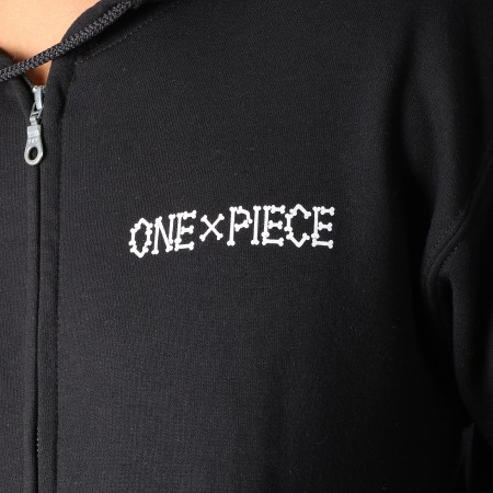 One Piece - Sweat Zippé Capuche Skull Noir