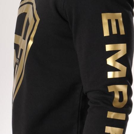 93 Empire - Sweat Crewneck 93 Empire Sleeves Noir Doré