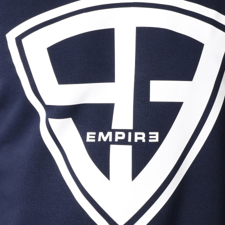 93 Empire - Sweat Crewneck 93 Empire Sleeves Bleu Marine Blanc