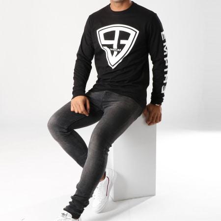 93 Empire - Tee Shirt Manches Longues 93 Empire Sleeves Noir Blanc