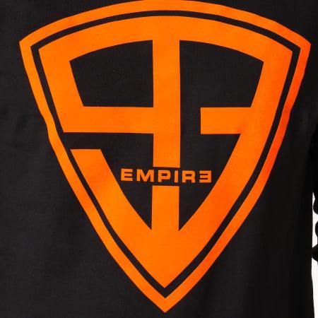 93 Empire - Tee Shirt Manches Longues 93 Empire Sleeves Noir Orange