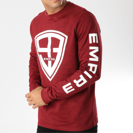 93 Empire - Tee Shirt Manches Longues 93 Empire Sleeves Bordeaux
