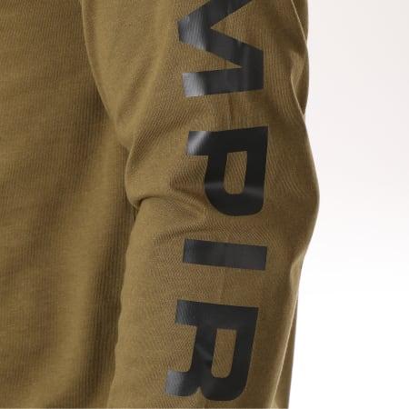 93 Empire - Tee Shirt Manches Longues 93 Empire Sleeves Vert Kaki