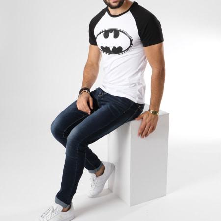 Batman - Tee Shirt Raglan Logo Blanc Noir
