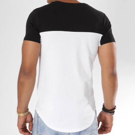 Parental Advisory - Tee Shirt Oversize Logo Bicolore Blanc Noir