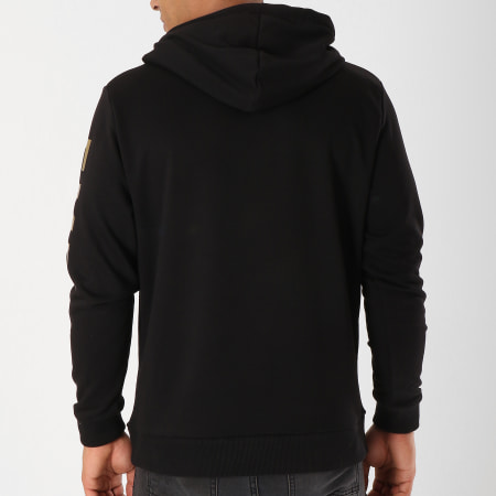 93 Empire - Sweat Capuche 93 Empire Sleeves Noir Or