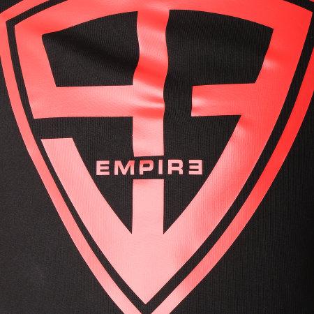 93 Empire - Sweat Capuche 93 Empire Sleeves Noir Rouge