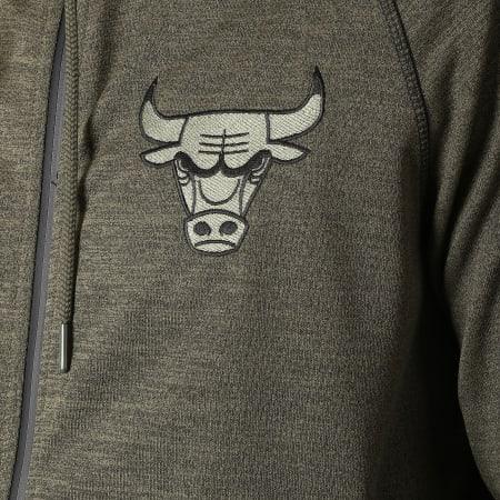 New Era - Sweat Zippé Capuche Engineered Chicago Bulls 11788997 Vert Kaki Chiné