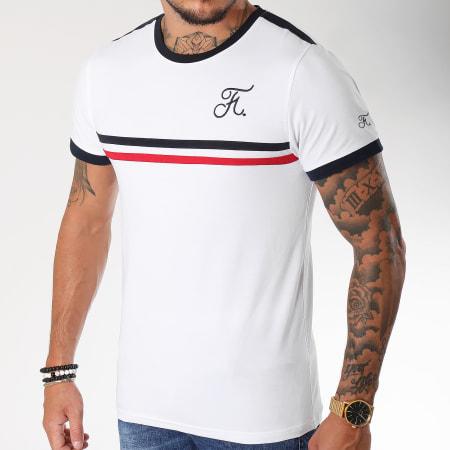 Final Club - Tee Shirt Bleu Blanc Rouge Avec Broderie 117 Blanc