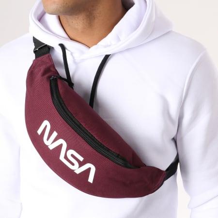 NASA - Sacoche Banane Worm Logo Bordeaux