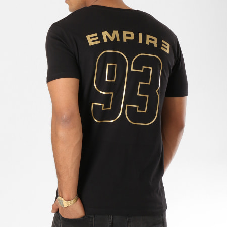 93 Empire - Tee Shirt 93 Empire Dossard Noir Or