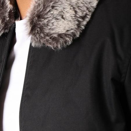 Brave Soul - Veste Zippée Col Mouton Aaron Noir