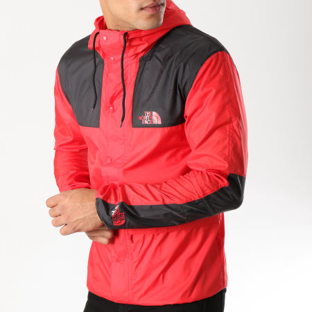 The North Face - Coupe-Vent 1985 Mountain CH37 Rouge Noir