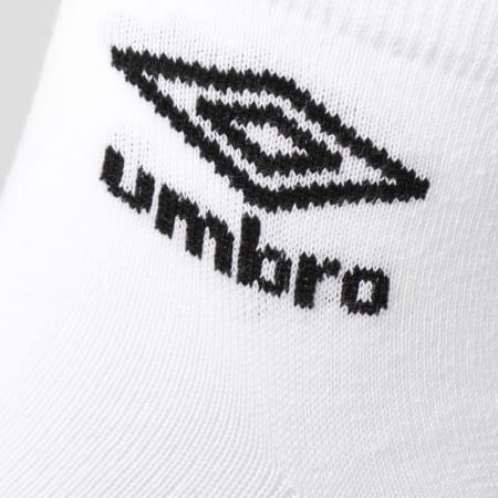 Umbro - Lot De 3 Paires De Chaussettes Low Blanc