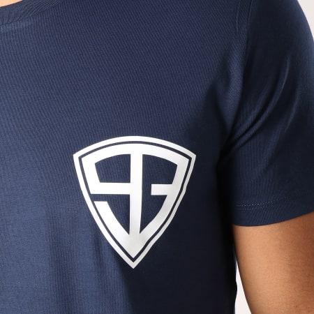 93 Empire - Tee Shirt 93 Empire Dossard Bleu Marine Blanc