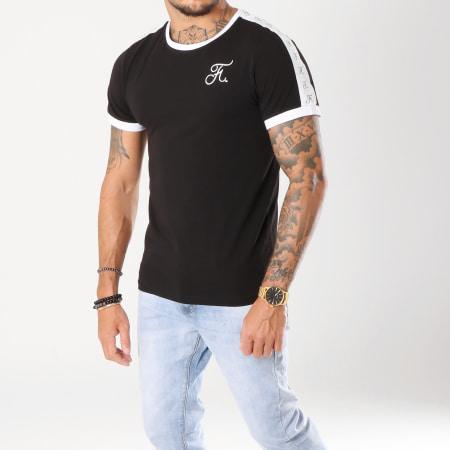 Final Club - Tee Shirt Premium Fit Avec Bandes 140 Noir