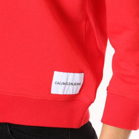 Calvin Klein - Sweat Crewneck Boxy Satin Bonded Rouge