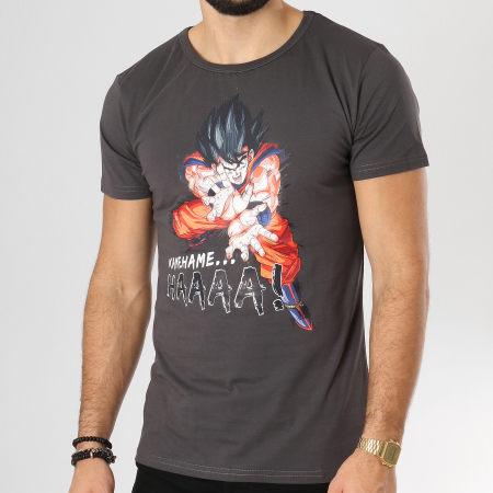 Dragon Ball Z - Tee Shirt Kamehameha Gris Anthracite