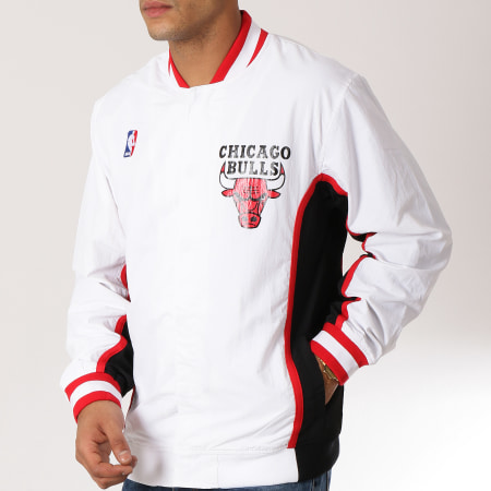 Mitchell And Ness - Veste Chicago Bulls Authentic Warm Up Blanc Rouge Noir