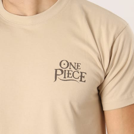 One Piece - Tee Shirt Wanted Luffy Beige