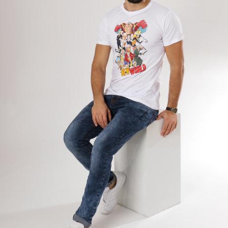 One Piece - Tee Shirt Groupe New World Blanc