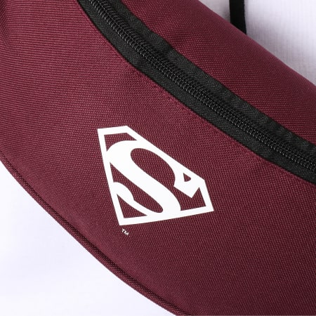 Superman - Sac Banane Logo Bordeaux