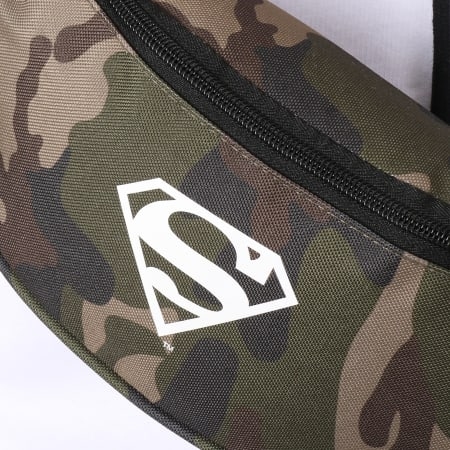 Superman - Sac Banane Logo Camouflage Vert Kaki