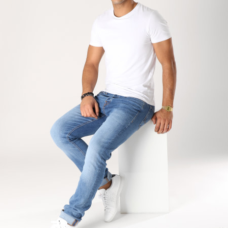 Jack And Jones - Jean Slim Tim Original Bleu Denim