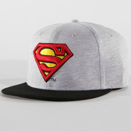 DC Comics - Casquette Snapback Superman Gris Chiné Noir