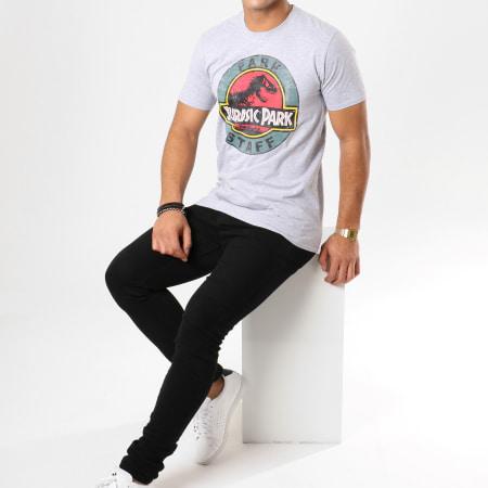 Jurassic Park - Tee Shirt Park Staff Gris Chiné