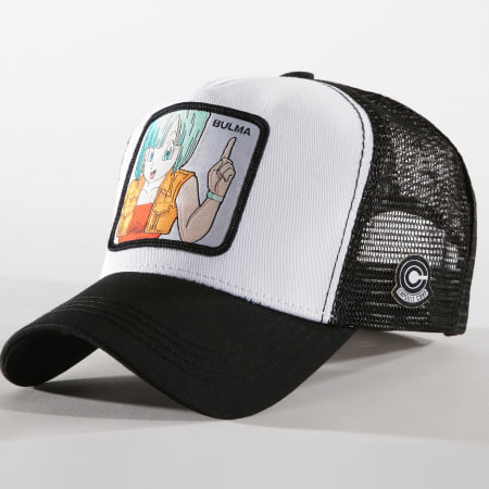 Dragon Ball Z - Casquette Trucker Bulma Blanc Noir