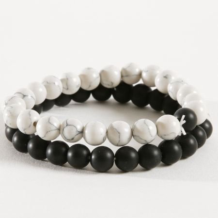 California Jewels - Bracelet B905 Noir Blanc