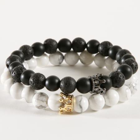 California Jewels - Bracelet B920 Noir Blanc