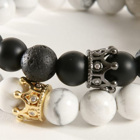 California Jewels - Bracelet B920 Noir Blanc