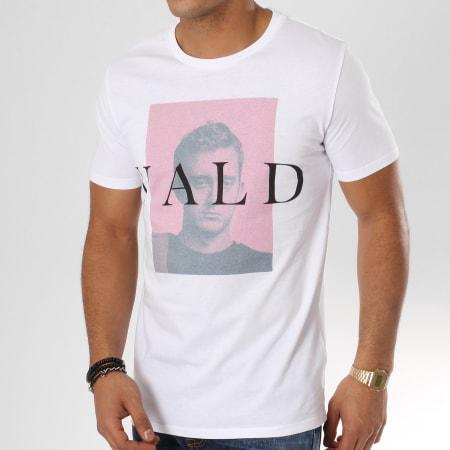 Vald - Tee Shirt Mugshot Blanc