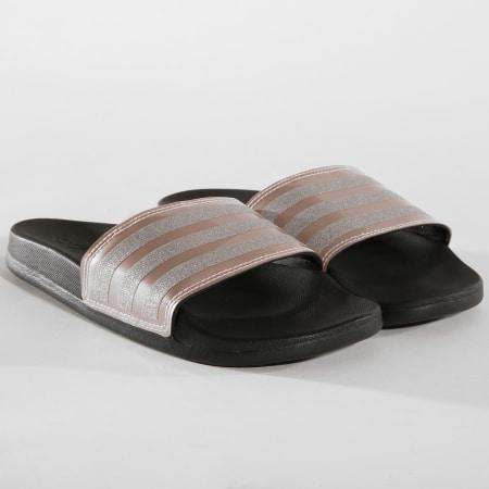 adidas - Claquettes Femme Adilette Comfort B75679 Noir Rose ...