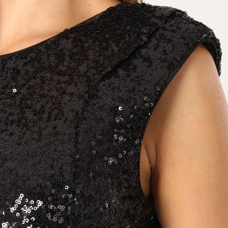 Vero Moda - Robe Femme Sparkly Noir