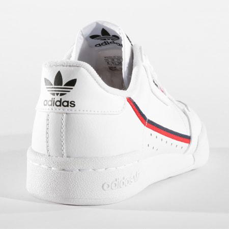 adidas - Baskets Femme Continental 80 F99787 Footwear White Scarlet Core Navy