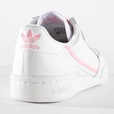 MEL 1/12 +avadidas - Baskets Femme Continental 80 G27722 Footwear White True Pink Clear Pink