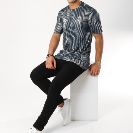 adidas - Tee Shirt De Sport Real Madrid DP2920 Bleu Marine Blanc