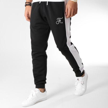 Final Club - Pantalon Jogging Premium Avec Bandes Et Broderie 155 Noir