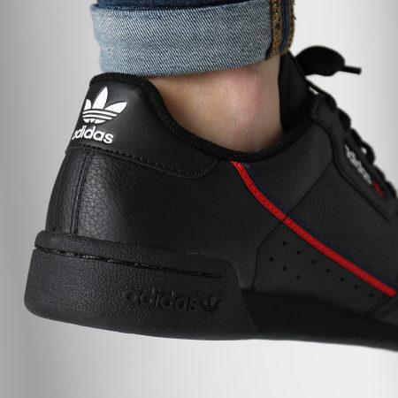 adidas - Baskets Continental 80 G27707 Core Black Scarlet Collegiate Navy