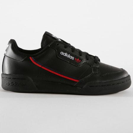 adidas - Baskets Continental 80 G27707 Core Black Scarlet ...