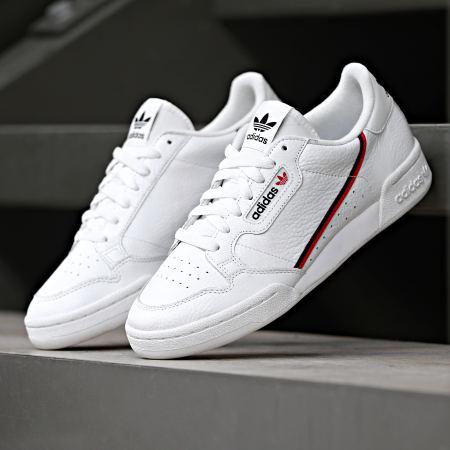 adidas - Baskets Continental 80 G27706 Footwear White Scarlet Core Navy