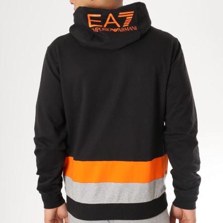 EA7 - Ensemble De Survetement 3GPV68-PJ05Z Noir Gris Chiné Orange