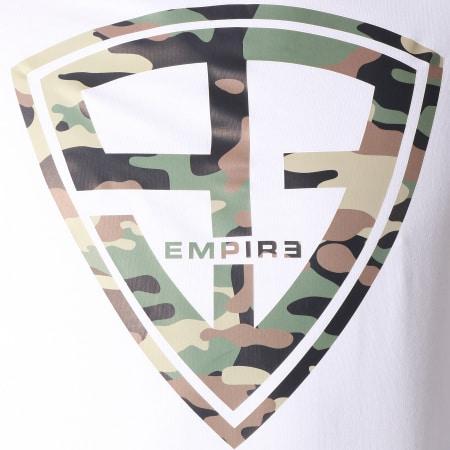 93 Empire - Sweat Capuche 93 Empire Blanc Camouflage Vert Kaki