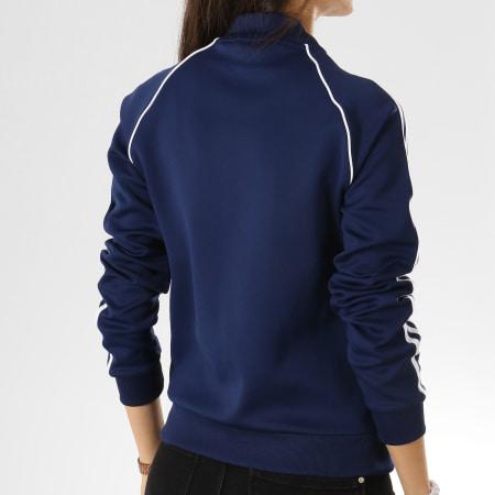 adidas Veste Zippée Femme SST TT DV2633 Bleu Marine Blanc
