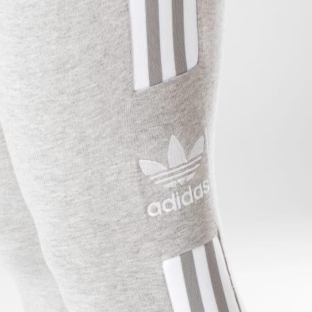 adidas Legging Femme Trefoil DV2641 Gris Chiné Blanc