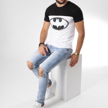 Batman - Tee Shirt Oversize Logo Blanc Noir